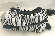 Animal Cozies Zebra Slippers Non Slip Sherpa Lined Size Women's S/M 6-7.5