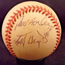 99 00 Dodgers Paul Lo Duca & Matt Herses Signed ONL Baseball PSA Guaranteed