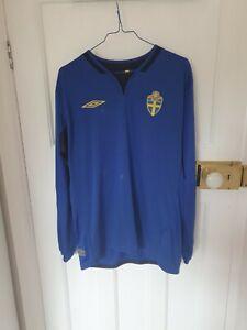 Rare Vintage Sweden Football Shirt, Euro 2004, Long Sleeved