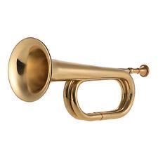 Muslady B Flat Bugle Call Trompete Messing Kavallerie Horn + Mundstück Neu T2K6