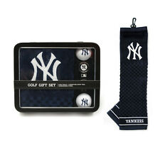 New York Yankees Golf Gift Set [NEW] MLB Towel Ball Divot Bag Golfing Tin