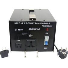 Seven Star ST-1500-U/D 110/120/220/240-Volt Step Down up Transformer 1500W Watt