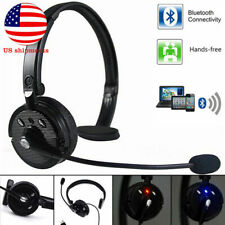Wireless Handsfree Headphone Bluetooth Mic Headset For Truck Driver Noise Cancel