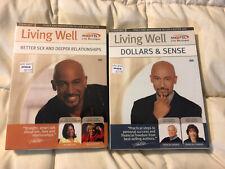 NEW MONTEL JORDAN LIVING WELL BETTER SEX & RELATIONSHIP DOLLARS & SENSE DVD LOT