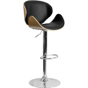 Flash Furniture Contemporary Barstool, Beechwood, Black - SD-2203-BEECH-GG