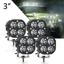 4X 3inch LED Work Light Bar 40W White Pods Lamp Cube Spot ATV SUV Truck Offroad