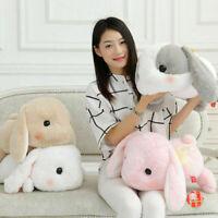 White Holland Lop Bunny Rabbit Plush Doll 18.89'' Toy Stuffed Animal Kid Go Gift