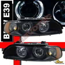 Black Halo Projector Headlights RH + LH For 97-00 BMW E39 5 Series 540i 528i