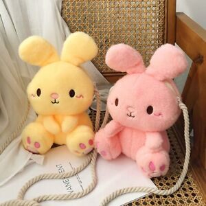 Kid Kawaii Bunny Satchel Shoulder Bag Soft Fluffy Handbag Cute Cartoon Girl Gift