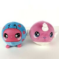 "2 Squeezamals - Lady Ladybug (Season Series 2 Exclusive - 3.5"") + Purple Nellie"