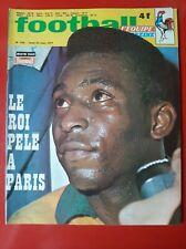 1971 football magazine n°135 PELE A PARIS ESPAGNE FRANCE BERETA KERUZORE MILAN