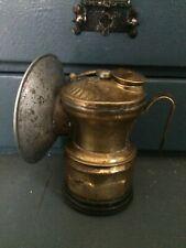 Vintage/antique Universal Lam Co. Carbide Miner's lamp. Brass! Usa!
