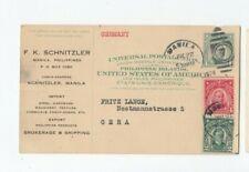 Wa049/ Philippinen Ganzsache ZUDRUCK Zusatz oo 1924 -> Gera
