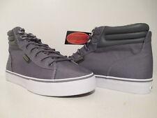 Lugz Mens Allerton High Top Nylon Casual Fashion Sneaker Charcoal/ White Size 9