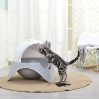 Space Capsule Plastic Cat Litter Box Cat Dog Pet Toilet House Training Litter