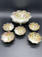 Beautiful Antique Hand Painted  Nippon Berry Bowl Nut Snack Celery bowl set of 6
