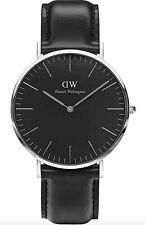 Daniel Wellington Watch * DW00100133 Classic Black Sheffield 40MM Black Leather