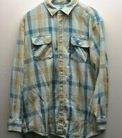 Surf Pendleton Woolen Mills Plaid Board Shirt Mens Large Burnt Long Sleeve EUC