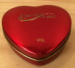 """DARRELL LEA """"Red"""" Gorgeous Little Love Heart Chocolate Tin Metal Lolly Box"""