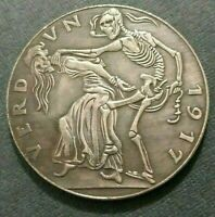 GERMAN SILVER PLATED MEDAL EXONUMIA TOKEN *** FROM THE SERIES EVENTS OF THE WW I