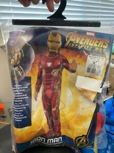 Kids Iron Man Infinity War Costume Marvel Avengers Size M 8-10 New!!!