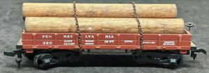 MANTUA: Pennsylvania 229 SHORT GONDOLA With LOGS, VINTAGE HO