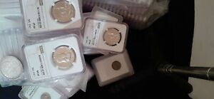 OVER 150 SLABBED AND CERTIFIED COINS INCLUDING 1963 NGC PF68 FRANKLIN HALF
