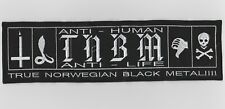 True Norwegian Black Metal Taake embroidered back patch black metal astral threa