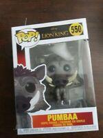 Pumbaa POP Vinyl Figure #550 Funko The Lion King Disney New!