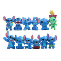 1 Set of 12 Disney Stitch Stitchs Figure Figurine Cake Topper Decor Toy 2-3cm