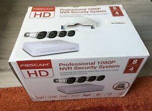 Foscam FN7108E-B4-2T Überwachungs Sicherheitskamera Innen & Aussen Set