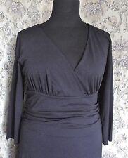 Party cocktail dress by ARTIGIANO Size 14 - 16 Black stretch jersey like Italy