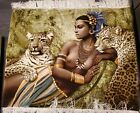 """Beautiful Tabriez  egyption queen Picture Rug 29""""X35"""" P.E.R.S.I.A.N handmade"""