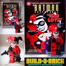 Harley Quinn Mad Love custom Minifigure w/ Display Case & lego stand 294
