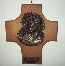Hausaltar-Jesus-Religuie-Holz-Wandbild-Weihwasser-Altar