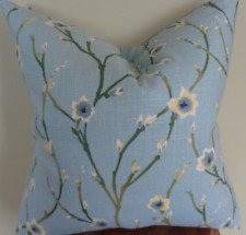 Decorative Pillow Cover Floral Green Gray Blue Yellow Off White Pattern
