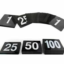 Table Number Card Wedding Party Accessories Seat Double Side Plastic Sign Supply