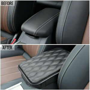 Car Accessories Car Center Console Armrest Cushion Mat Pad Cover PU Leather