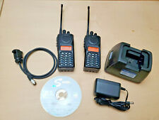 Lot of (2) Midland Syn-Tech III P25 UHF 5W STP-404A Radios 380-470Mhz & Charger