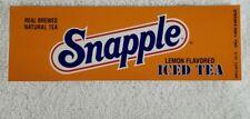 Four Snapple Lemon Iced Tea Vending Machine Flavor Strip 7 X 2 1/4