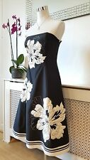 Debut Debenhams Black Rockabilly Skater Prom Occasions Party Dress Size 8