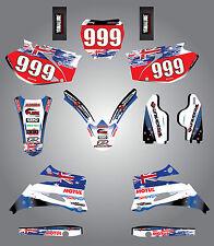 Yamaha YZ 250 F  -  2006 - 2007 Custom sticker kit Aussie Pride decals