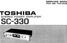 TOSHIBA SC-330, SC-530 Schematic Diagram Service Manual Schaltplan