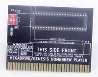 Megadrive / Genesis Homebrew player adaptateur Roms Eproms vers cartouche