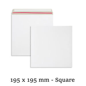 Quality All Board White Envelopes 195x195 mm Size For Calender Cheap Mailer