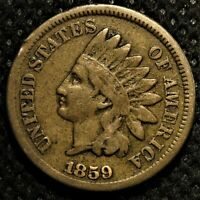 1859 Indian Head Cent with sharp details!
