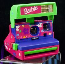 Vintage Polaroid Barbie Instant One Step 600 Camera Original Strap Stickers
