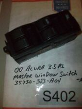 1999 ACURA RL 3.5L DRIVER LEFT SIDE MASTER WINDOW SWITCH  35750-523 A04 #S402+