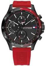 Tommy Hilfiger Banco   Correa De Silicona Roja   1791722 Relojes