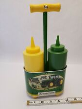 John Deere Decorative Items: Condiment Server, Two Squeeze Bottles in Container